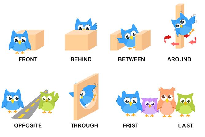 In On At Inside Between Przyimki Miejsca W Jezyku Angielskim on Next Kindergarten Positional Words Worksheet